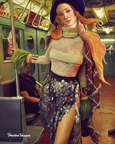 Les peintures célèbres se donnent des airs de blogueurs sur Instagram