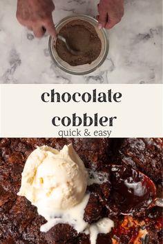 Chocolate Pudding Desserts, Chocolate Cobbler, Chocolate Cookie Recipes, Chocolate Flavors, Jello Cake Recipes, Dessert Recipes, Easy Desserts, Delicious Desserts, Yummy Food