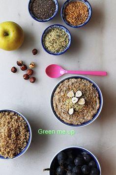 Porridge Quinoa Pomme Noisette Chia Chanvre Tournesol fait-maison  #greenmeup  @Mj0glutenVG #0GlutenVegeBrest  #sansgluten #coeliaque #vegetalien #vegan #Porridge #Quinoa #Pomme #Noisette