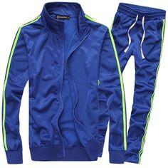 b68f14b70e9d Wholesale Newest design men sport tracksuit leisure slim fit sportwear  solid color blue black white set hoodies suit