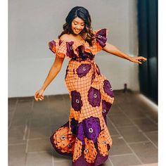 13 Amazing Ankara Styles - African Wear Designs For Ladies 2020 African Maxi Dresses, African Fashion Ankara, Latest African Fashion Dresses, African Dresses For Women, African Print Fashion, African Attire, African Women, African Outfits, Trendy Ankara Styles