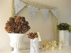 I'm going to something similar with a mirror in the nursery I think...