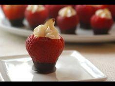 Fresas con Queso Crema y Chocolate/Idea para Mesa De Postres - YouTube