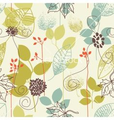 Nature seamless background vector - by Danussa on VectorStock®
