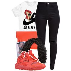 ariel by lovebrii-xo on Polyvore featuring polyvore fashion style New Look Givenchy NIKE