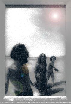 Op het strand met eL en mijn zus