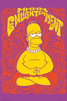 Simpsons Enlightenment - Official Poster. Official Merchandise. Size: 61cm x 91.5cm. FREE SHIPPING