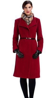 Julitia Casual Wool 2019 New Mens Fleece Jacket Autumn Winter Coat Deep Grey M