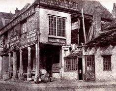 Many uses: There was a builder, undertaker and joiner stationed atBroad Quay Bristol when this photo was taken between 1850 and 1855