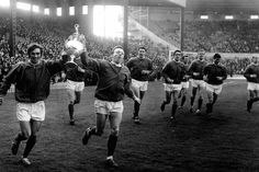 Nobby celebrates United's 1967 League title win with George Best