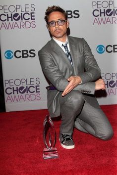 Robert Downey Jr. at The People's Choice Awards at #Nokia Theatre LA Live on 1/9/13  http://celebhotspots.com/hotspot/?hotspotid=5718&next=1