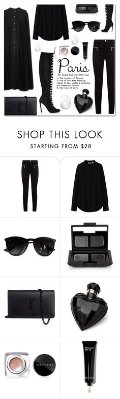 """""""Untitled #641"""" by millilolly ❤ liked on Polyvore featuring Burberry, Giambattista Valli, J Brand, Uniqlo, Ray-Ban, NARS Cosmetics, Yves Saint Laurent, Lipsy, Bobbi Brown Cosmetics and fallgetaway"""