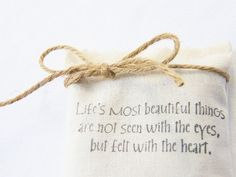 Lavender Sachet Love Quote Hand Printed by gardenmis on Etsy, $10.00