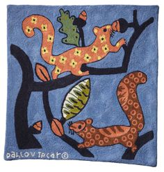 Pattern Recognition, Chipmunks, Squirrels, Rug Hooking, Illustrator, Kids Rugs, Artists, Pillows, Artwork