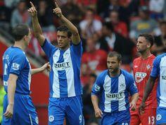 Franco Di Santo opened the scoring for Wigan at Southampton