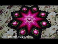 Tapete o Carpeta tejido a crochet paso a paso video 1 - YouTube