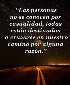 〽️ Las personas no se conocen por casualidad..