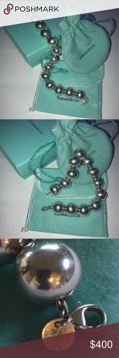 """RARE Tiffany & Co Beaded Bracelet Authentic Tiffany & Co Bracelet RARE 14 mm Bead Length: 8.25"""" due to the size of the beads....this fits a 7-7.5"""" wrist. Tiffany & Co. Jewelry Bracelets"""