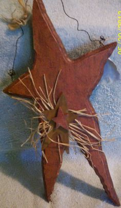 Country Primitave wooden star on Etsy, $25.00