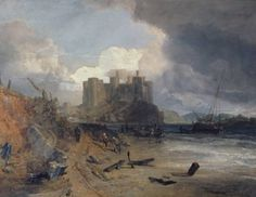 Joseph Mallord William Turner 'Conway Castle', c.1803 - Oil paint on canvas -  Dimensions Support: 1035 x 1397 mm -  © Private Collection, UK/ courtesy Bridgeman Art Library