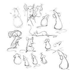 Some rat studies. I'm partial to the sleepy rat 🐀😴 . Animal Sketches, Animal Drawings, Art Sketches, Mouse Illustration, Ink Illustrations, Mouse Sketch, Bunny Book, Cute Rats, Art Prompts