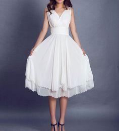 White dress wedding dress