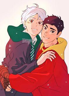 1/3 Based on my favorite Hogwarts AU daisuga fic! I really adore Slytherin!Suga and Gryffindor!Daichi.