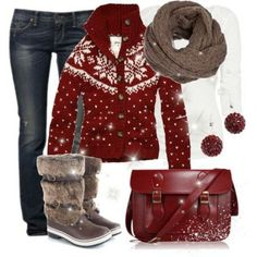 winter boots, adorable winter outfit!