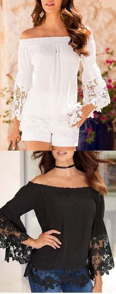 Loyal 2018 New Summer Sexy Women Tops Fashion Slash Neck Ladies Lace Up Bow Blouse Embroidery Hollow Out Floral Off Shoulder Shirts Blouses & Shirts