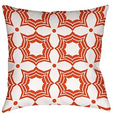 FEEL-R Home Cotton Square White And Orange Sparkle Pattern Printed Throw Pillow Case Decorative Pillow Cushion Cover PillowCase 18inch -- Awesome products selected by Anna Churchill