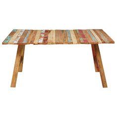 Table en bois recyclé coloré L.180cm Coachella