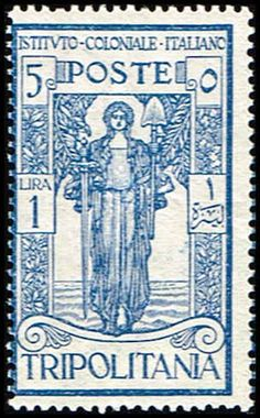 Blue Moon Philatelic Stamp Store - Tripolitania B12 Stamp Peace Substituting Spade for Sword Stamp