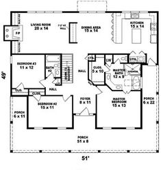 Colonial Floor Plan First Floor - 087D-0989 | House Plans and More