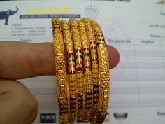 22k gold India / Dubai bangles set