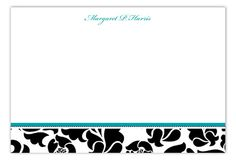 Sophisticated Fifty Flat Note Card : Flat Notes  #Stationery Dots Design, Personalized Stationery, Note Cards, Polka Dots, Notes, Flat, Digital, Report Cards, Bass
