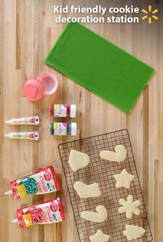Build a cookie decoration station for your children! Kids will love creating colorful batches of cookies for Christmas. Set-up is simple w/ homemade cookies, frosting, sprinkles, icing tubes and more. Win-win-win the holidays with a fun family activity, easy clean-up, and festive treats friends will love! Send some cookies to school, add a personal touch to gifts, take to your next holiday party and save some to set out for Santa. Discover this and more Food Hacks from Walmart.