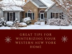 Is your home ready for the harsh Buffalo winter? Take a look at this handy checklist for winterizing your western New York home: Energy Saving Tips, New York Homes, Buffalo, Westerns, Construction, Winter, Outdoor, Building, Winter Time
