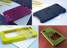 3D Printed Phone Cases for iPhone 5, 6 and 6 Plus!  Order yours on www.form3d.in