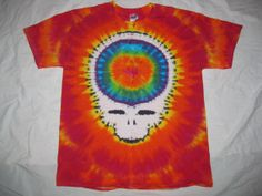 Tie Dye Stealie Shirt size Large by EarlyLightDyes on Etsy, $35.00
