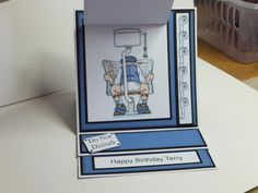 (Ref:G7) Another view of my Flippin Men easel birthday card.