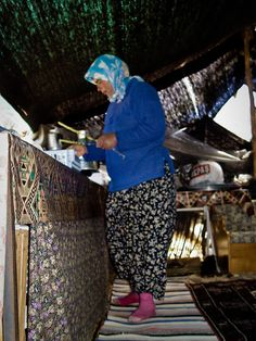 Tea time in a Black Tent - W Turkey