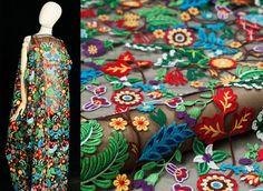 Spitze - Blumenspitze Stoff Breite 140(cm) - ein Designerstück von LucyWang bei…