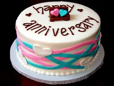 Write name on happy anniversary cakes online free anniversary