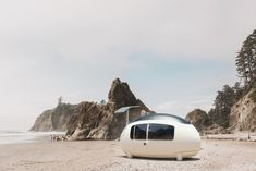 Photo 2 of 5 in This New Egg-Shaped Prefab Can Pop Up Almost Anywhere for $56K - Dwell Off Grid Tiny House, Best Tiny House, Micro House, Susan Sarandon, Prefabricated Houses, Prefab Homes, Tiny Homes, New Egg, Egg Shape