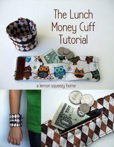 Lunch+Money+Cuff Keep school lunch money safe.