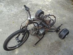 Drift trike motorizado 100cc Drift Trike, Welding, Biking, Sliders, Construction, Motorcycle, Street, Toys, Vehicles