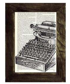 I love the idea of screen printing on old book pages. Now collecting old book pages...