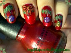 christmas nail art check out www.MyNailPolishObsession.com for more nail art ideas.