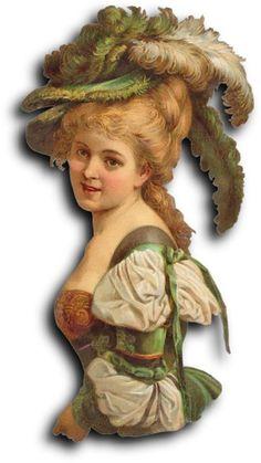 Victorian scrap: Woman by Antique Photo Album Vintage Ephemera, Vintage Cards, Vintage Postcards, Victorian Art, Victorian Women, Victorian Christmas, Vintage Pictures, Vintage Images, Vintage Photographs