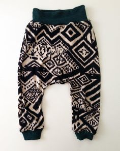 Tahitian Treat Jersey Knit Harems with Teal Sweater Knit Waistband and Cuffs